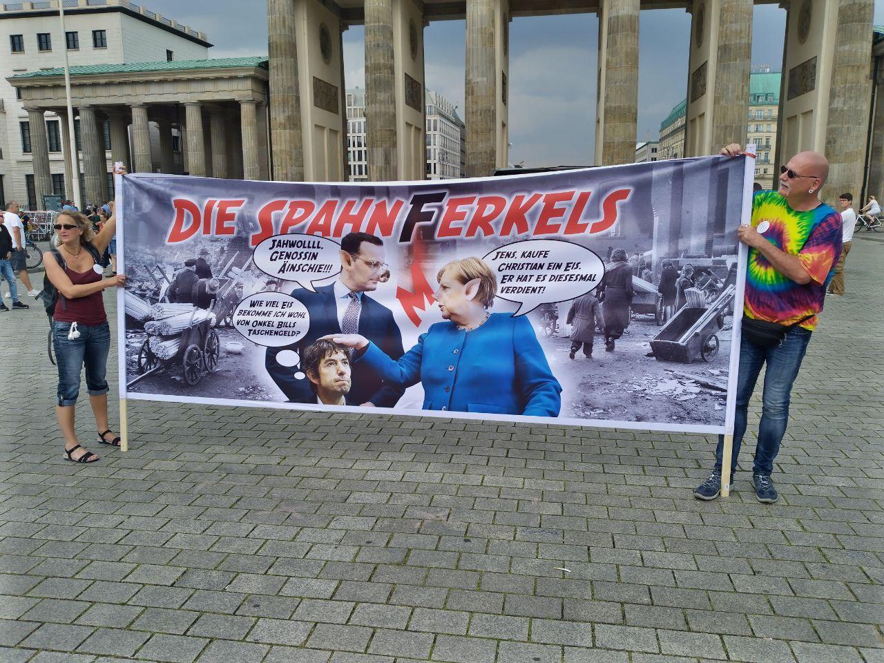 Plakat Demonstration in Berlin