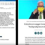 """Die Bildzeitung lehnt eine Anzeigenschaltung der deutschlandweiten Organisation für die Grundrechte """"Querdenken"""" ab"""