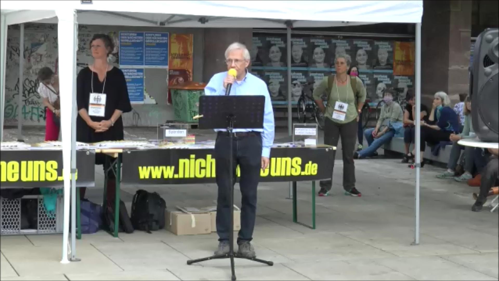 Dr. med.Thomas Külken Querdenken-761 Freiburg 13 Juni 2020 Demonstration für die Grundrechte
