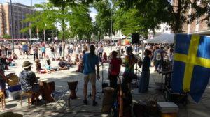 Querdenken-761 Freiburg 400-500 Teilnehmer 18.07.2020