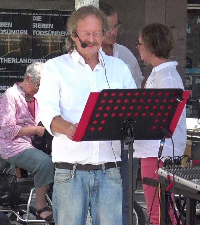 Demonstration Querdenken-761 Freiburg 18.07.2020 Apotheker Ullrich Gläser
