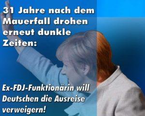Merkel führt Ausreiseverbote wieder ein
