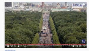 1 Million Teilnehmer Berlin Großdemonstration 1 August Tag der Freiheit