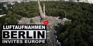 Berlin Querdenken Demonstration 29.August Luftaufnahmen