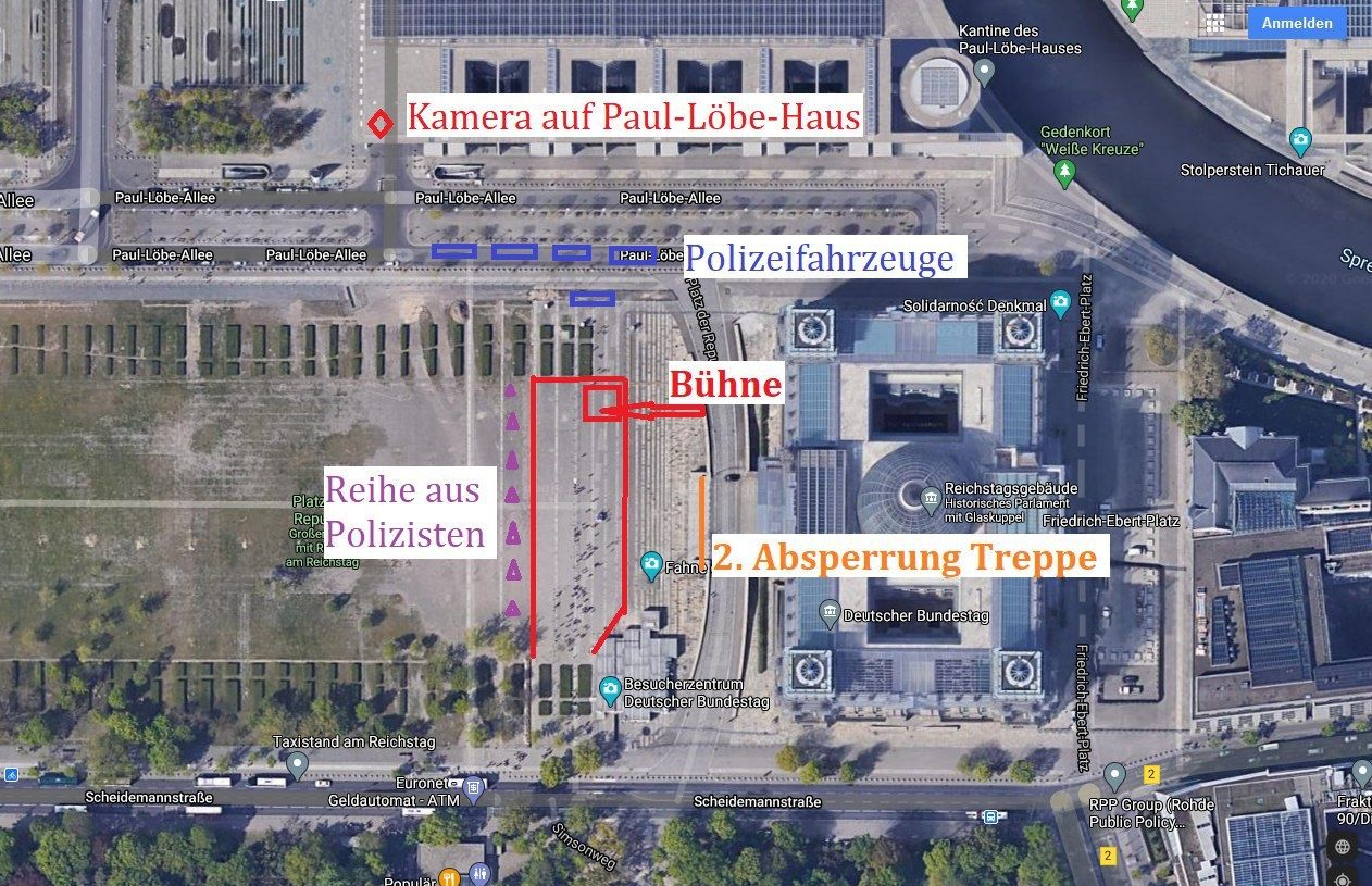 Demo 29 August Vorfall an der Reichstagstreppe