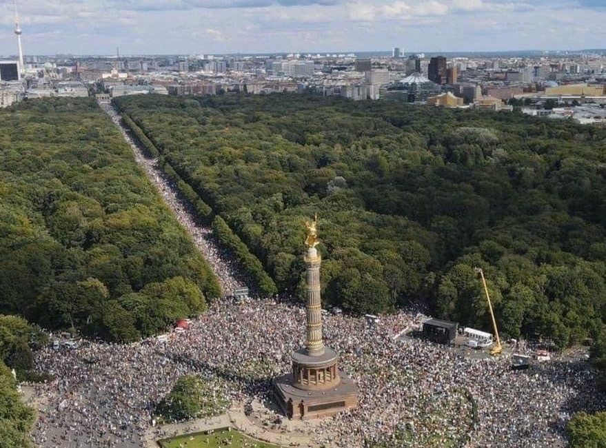Die größte Demonstration der deutschen Geschichte 29 August 2020