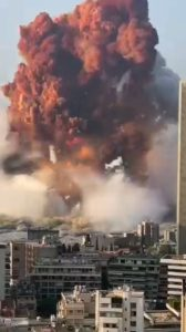 Riesen Explosion in Beirut