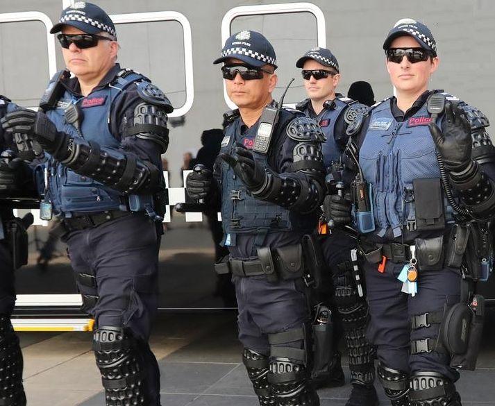 Police Melbourne Australien