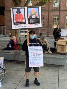 Querdenken Freiburg Demonstration vom 31.10.2020