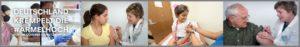 Fotomontage Deutschland krempelt die Ärmel hoch - Impfungen